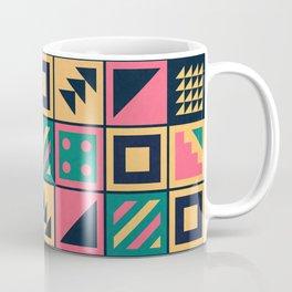 Colorful Geometric Floor Tile Pattern Coffee Mug