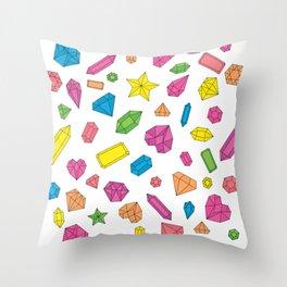 Neon Gems Throw Pillow