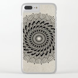 Digital Mandala #2 Clear iPhone Case