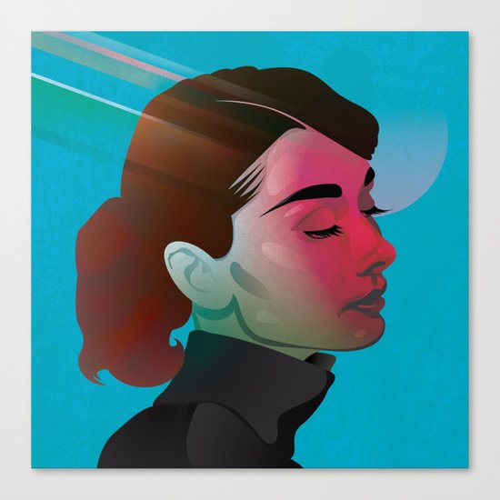 Classy- Audrey Hepburn Canvas Print