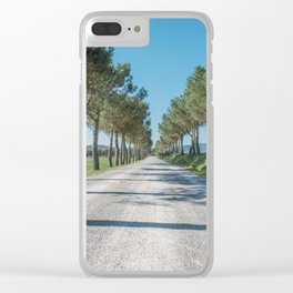 Tuscany 01 Clear iPhone Case