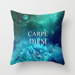 CARPE DIEM GEOMETRY Throw Pillow
