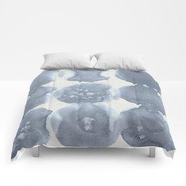 Shibori Wabi Sabi Indigo Blue on Lunar Gray Comforters