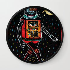 strange tales of cucacolor Wall Clock