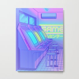 Midnight Arcade Metal Print