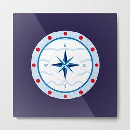 Nautical compass Mega Yacht Metal Print