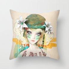 War girl Throw Pillow