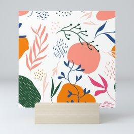 Modern Fall Autumn Floral Mini Art Print