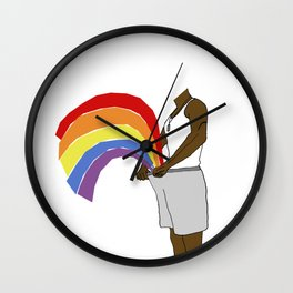 LOVE in the shorts Wall Clock