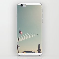 Blue Angel Jets Flying Color Photo iPhone & iPod Skin