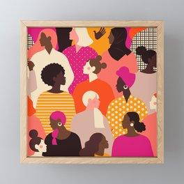 different ,ethnicity Framed Mini Art Print