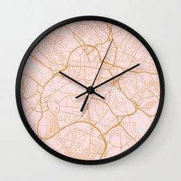 Leeds map, UK Wall Clock