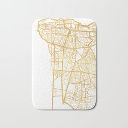 BEIRUT LEBANON CITY STREET MAP ART Bath Mat