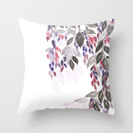 Lupin flowers illustration Throw Pillow