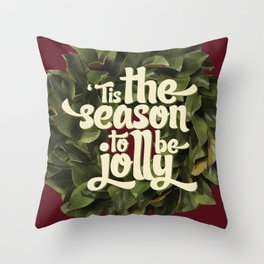 Tis the season to be jolly - holiday quote - christmas - instant download - seasonal - wall decor -  Throw Pillow