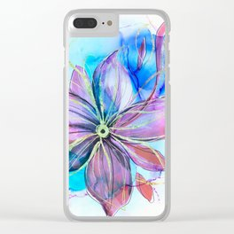 magical flower Clear iPhone Case
