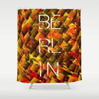 camo Shower Curtains featuring CAMO BERLIN by Chrisb Marquez