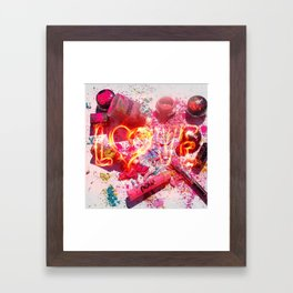 MakeUp Crush Framed Art Print