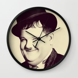 Oliver Hardy Wall Clock