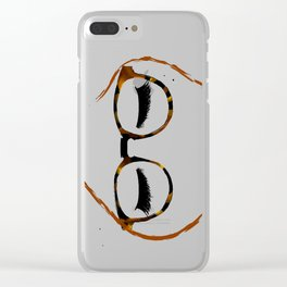 Tortoiseshell Glasses Red Clear iPhone Case