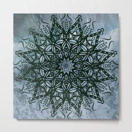 Mandala Splash Metal Print