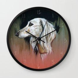 Saluki I - Illustrious dogs. Wall Clock