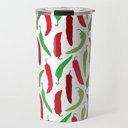 New Mexico Christmas Hatch Chiles in White Travel Mug