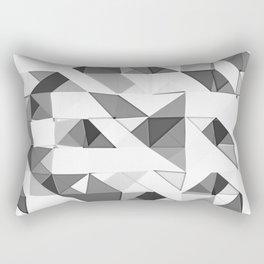 Triangular Deconstructionism Light Mono Rectangular Pillow