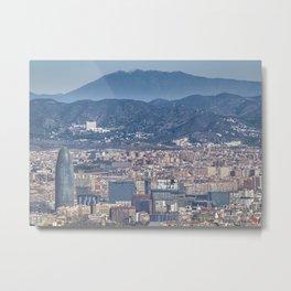 Aerial View Barcelona City, Spain Metal Print