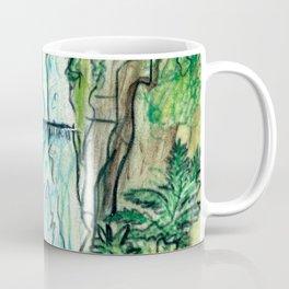 Multnomah Falls Oregon Travel Poster Coffee Mug