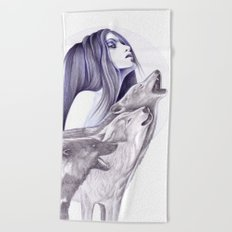 Call Of The Wolves Beach Towel