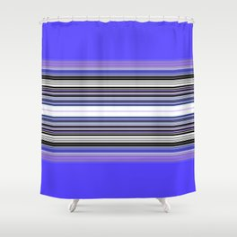 Bright bold Blue And Purple Stripe Shower Curtain