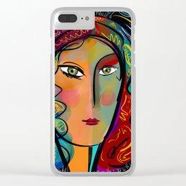 Just like Heaven Pop Art Portrait Clear iPhone Case