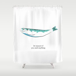 let minnow Shower Curtain