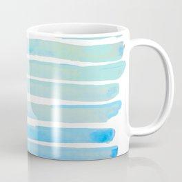 New Year Blue Water Lines Coffee Mug
