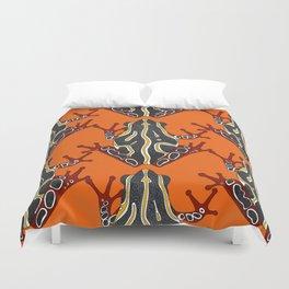 congo tree frog orange Duvet Cover