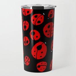 Ladybugs (Red on Black Variant) Travel Mug
