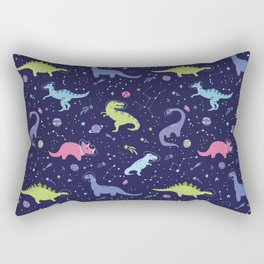 Dinosaurs in Space Rectangular Pillow
