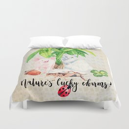 Nature's Lucky Charms Duvet Cover