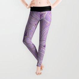 paisley purple Leggings