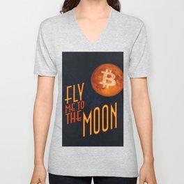 BTC to the Moon Unisex V-Neck