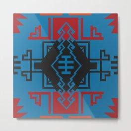 American Native Pattern No. 136 Metal Print