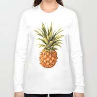 pineapples Long Sleeve T-shirts featuring Pineapples Pattern by JunkyDotCom