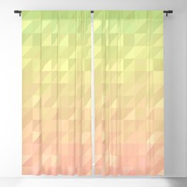 Pink and Green Blackout Curtain