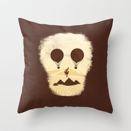 Flying over Giza Throw Pillow