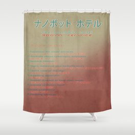 The Nanobot Hotel Room Service Pamphlet Shower Curtain