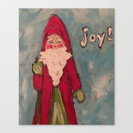 Santa full of Joy Canvas Print