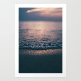 Beach Waves Detail Art Print