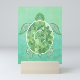 Turtle - Emerald Mini Art Print