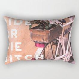Ride or Die B*tch Rectangular Pillow